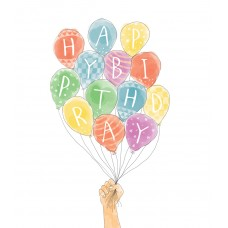 Mini Happy Birthday Balloons