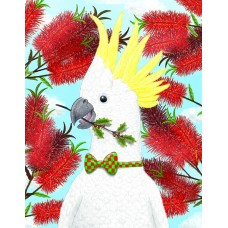 Cockatoo With Holly