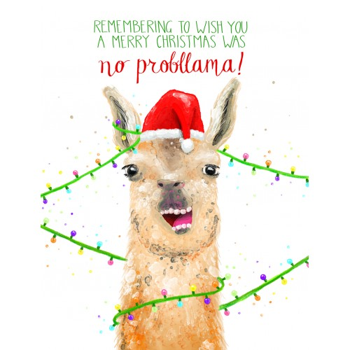 No Probllama (Christmas)